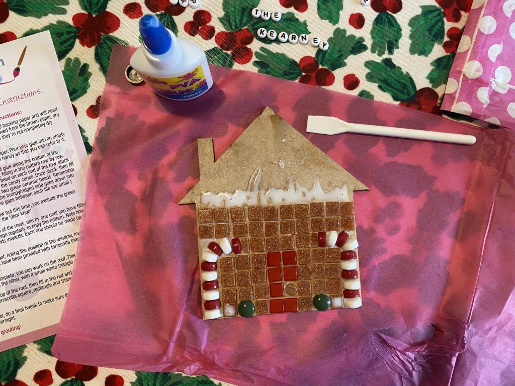 gingerbread house mosaic