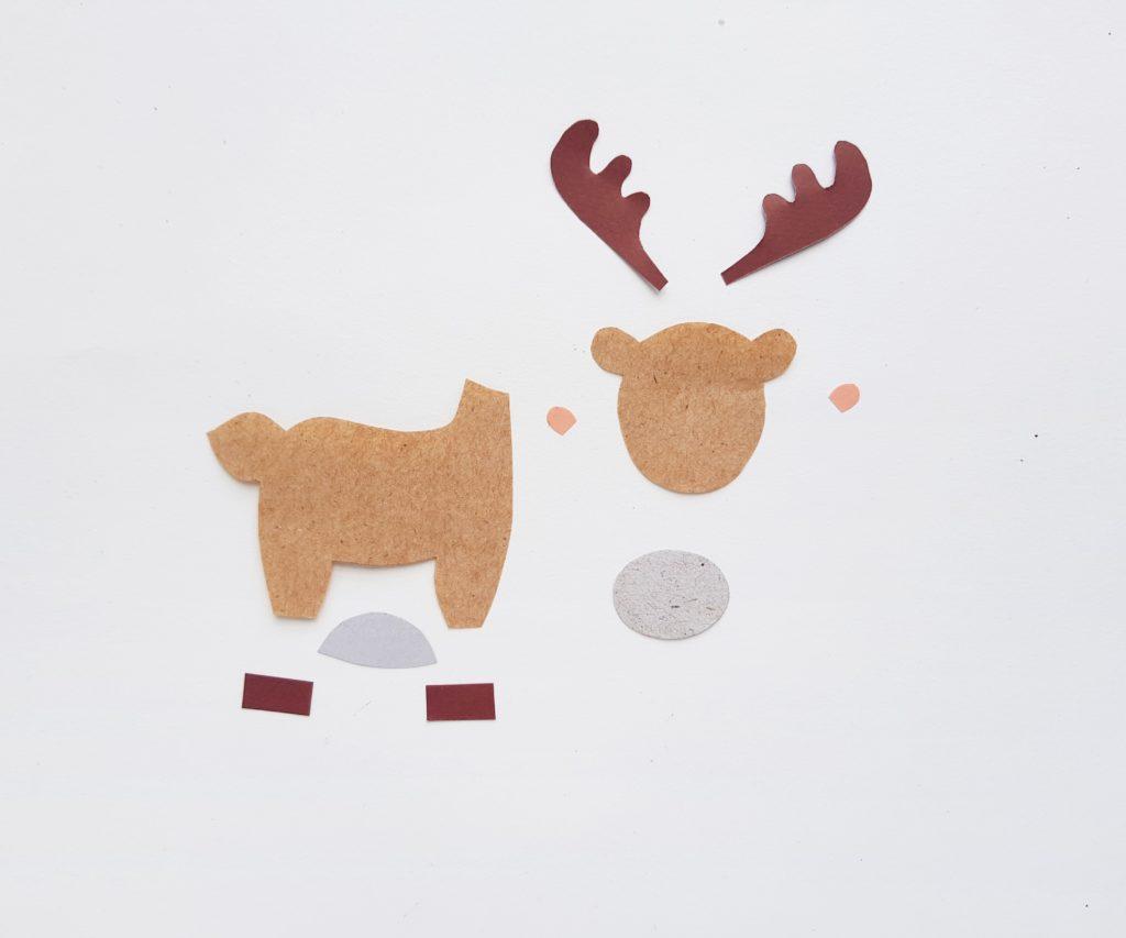 Paper moose puppet activity