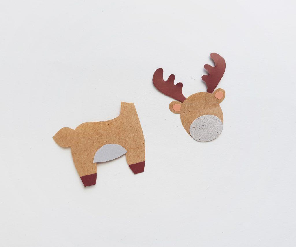 Paper moose puppet craft