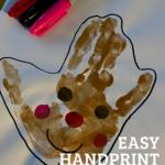 Easy handprint gingerbread man