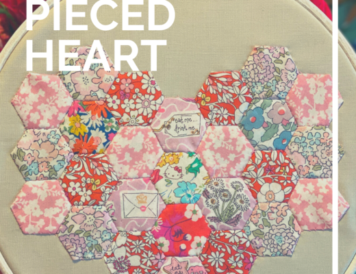 English Paper Pieced heart