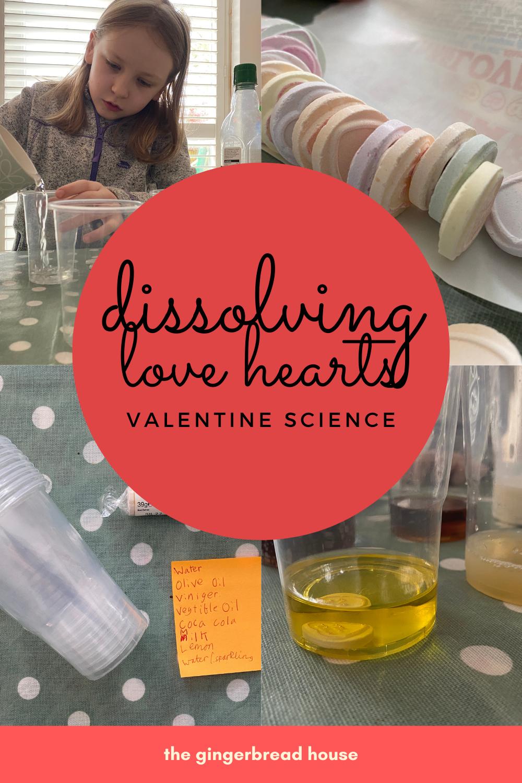 Dissolving Love Hearts Valentine science