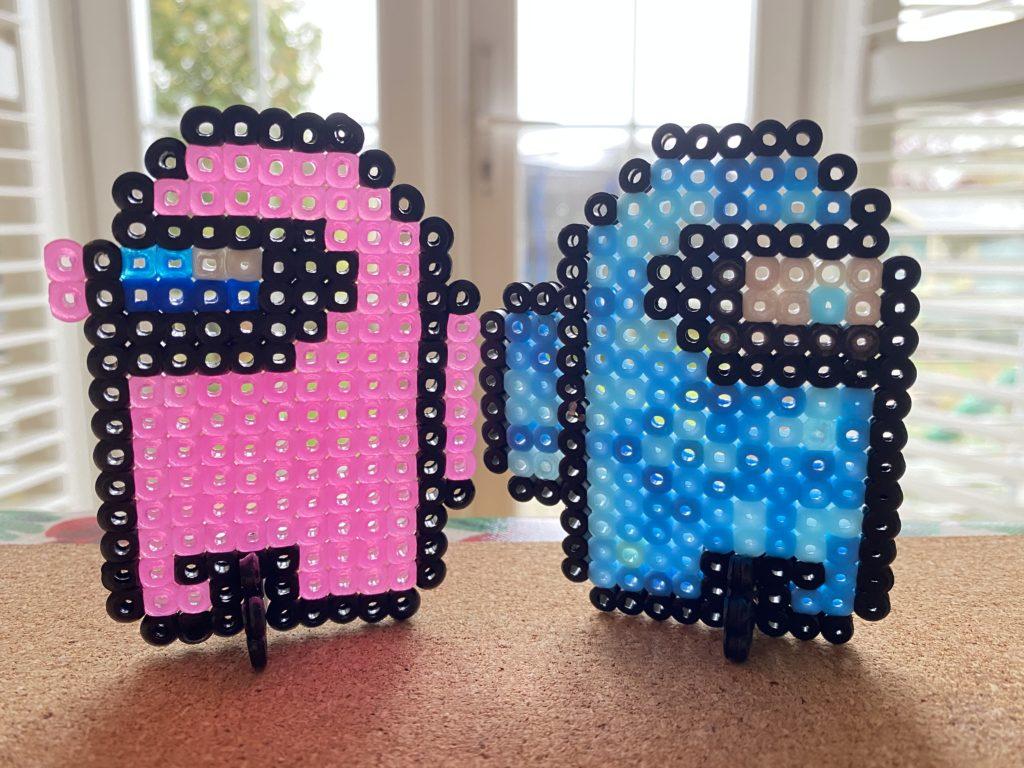 Among Us Crewmate hama bead craft for kids