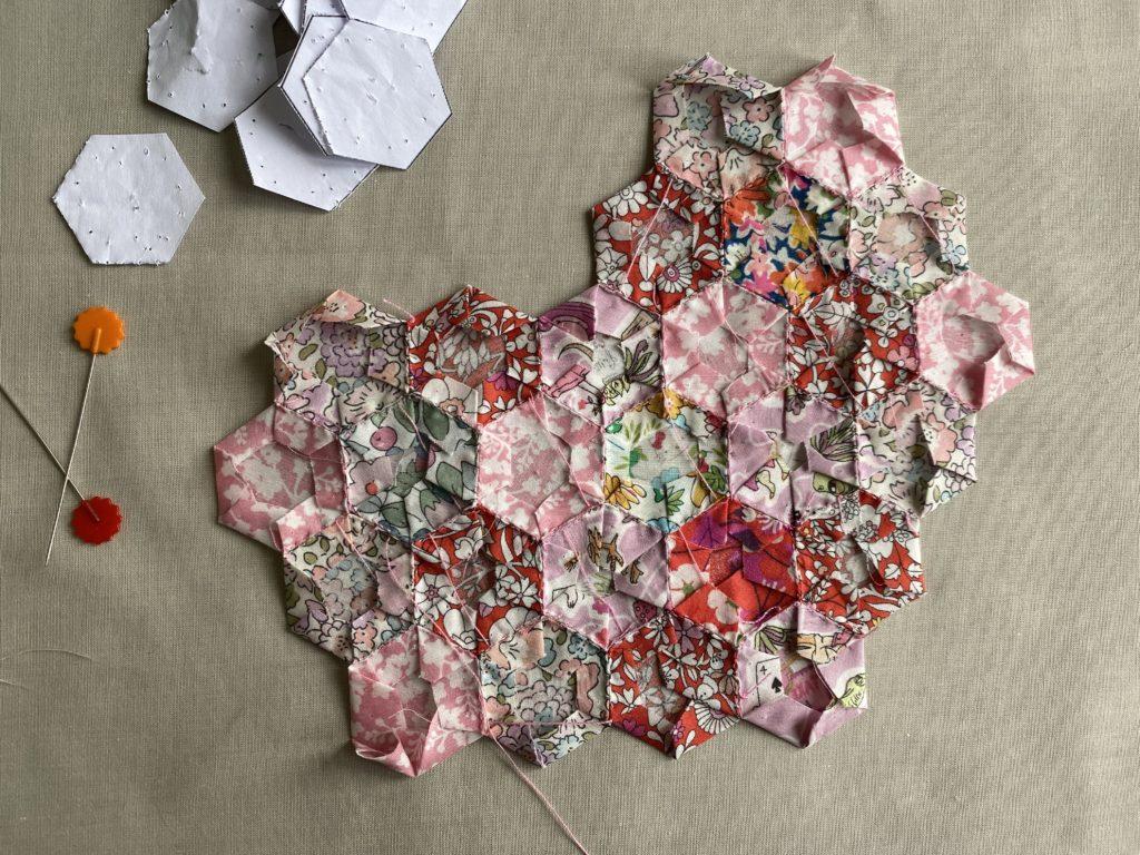 Liberty English Paper Pieced heart