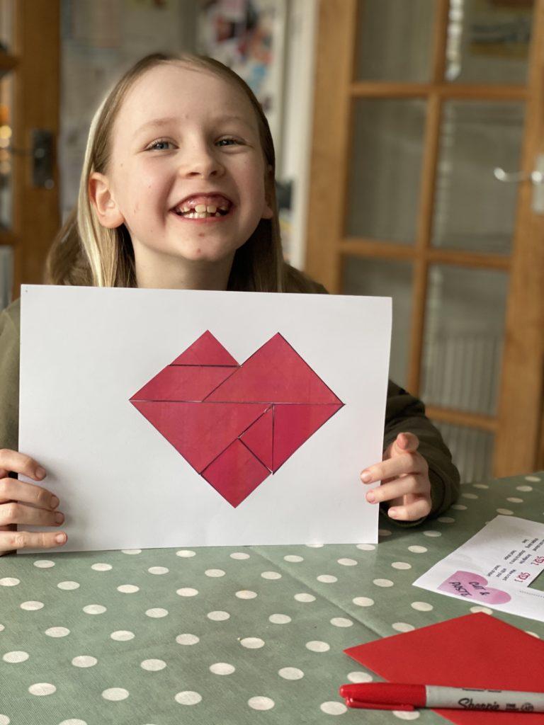 Valentine STEM activity for kids