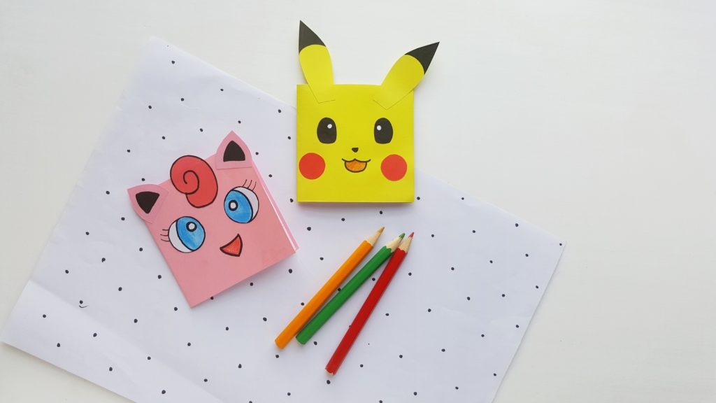 Pikachu, Bulbasaur, Charmander, Evee and Jigglipuff craft for kids