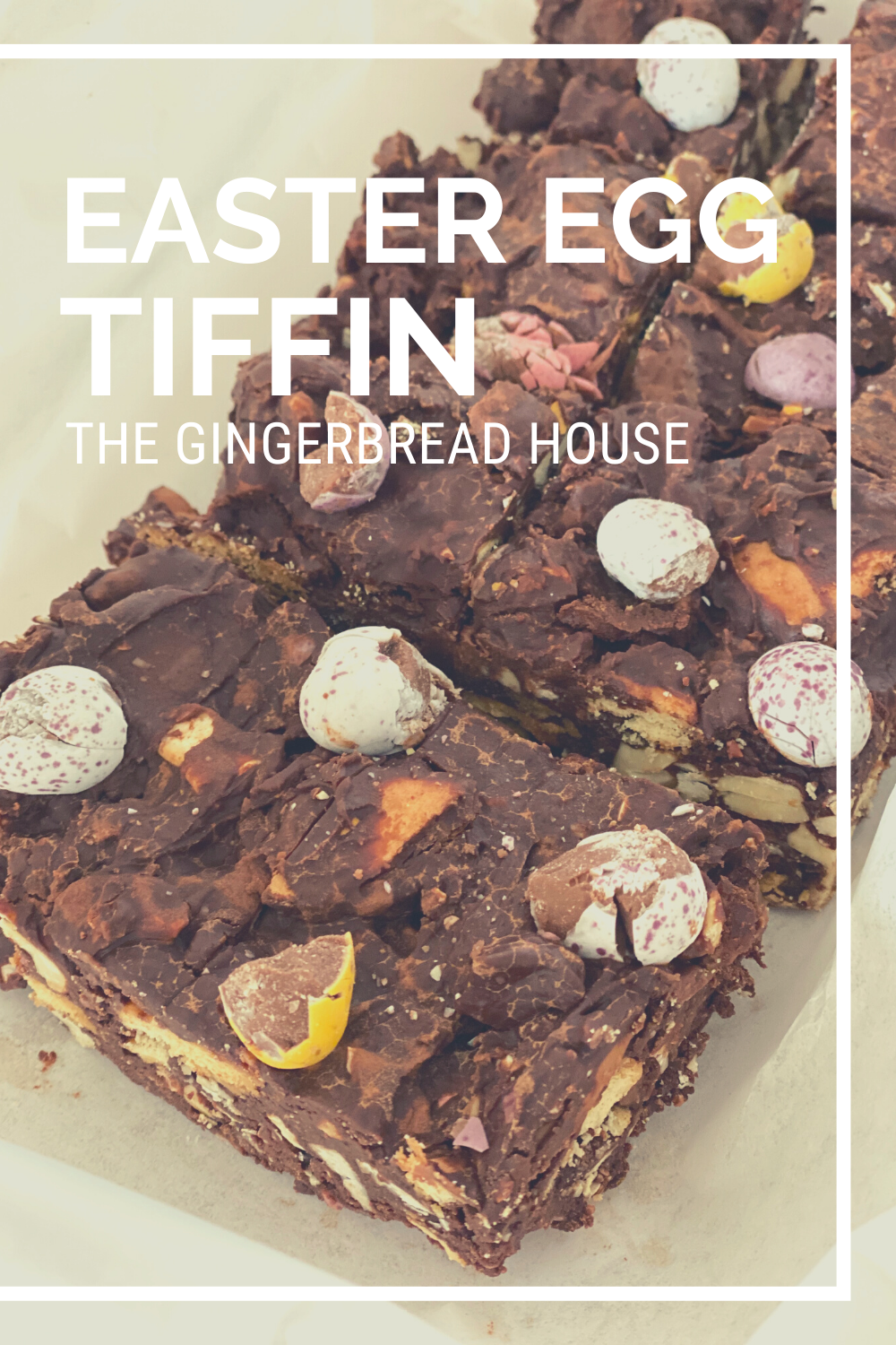 Easter egg chocolate tiffin