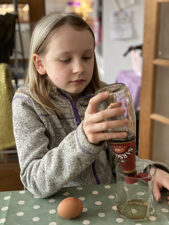 Egg in vinegar experiment for kids - the-gingerbread-house