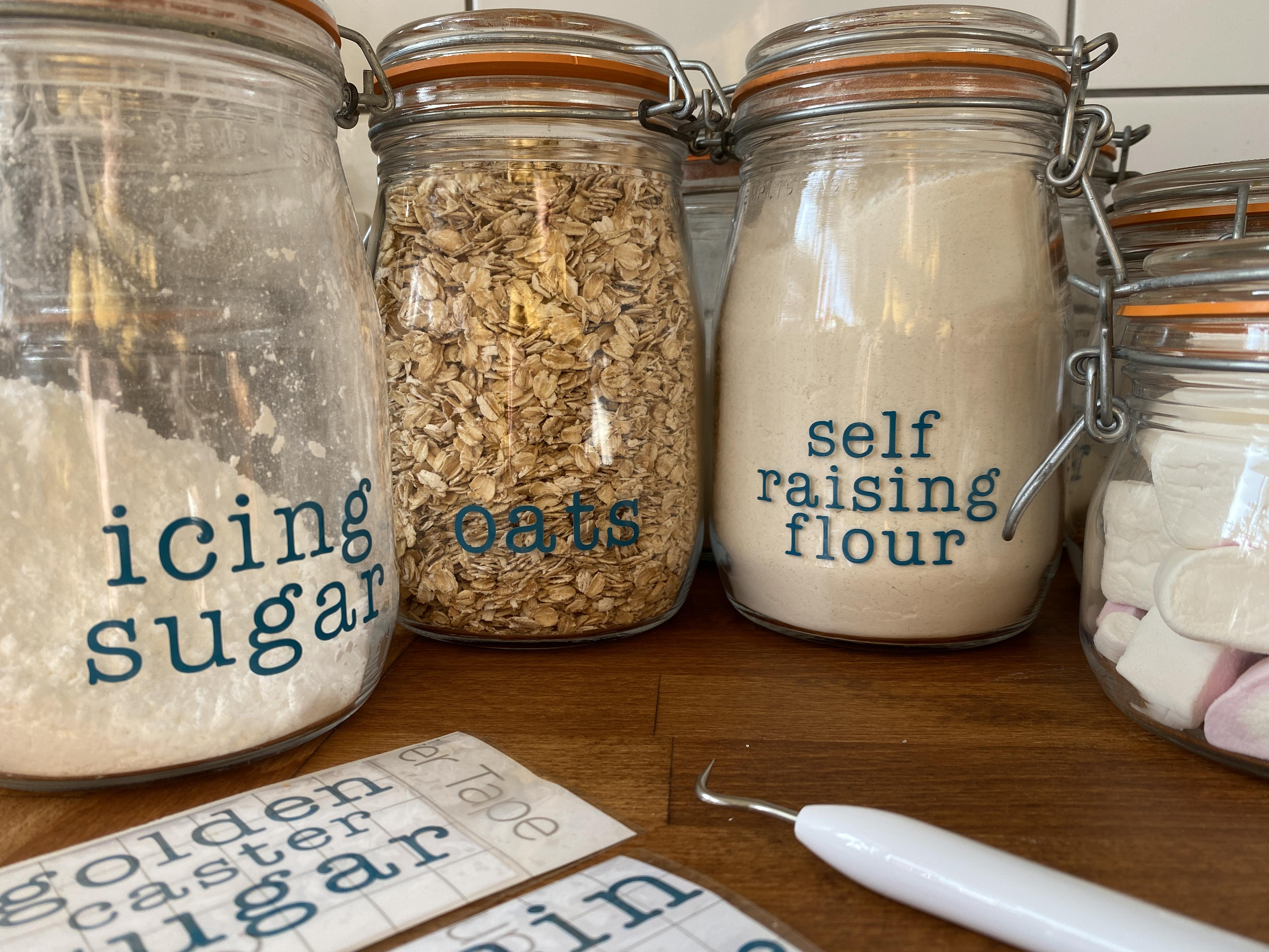 make your own storage jar labels