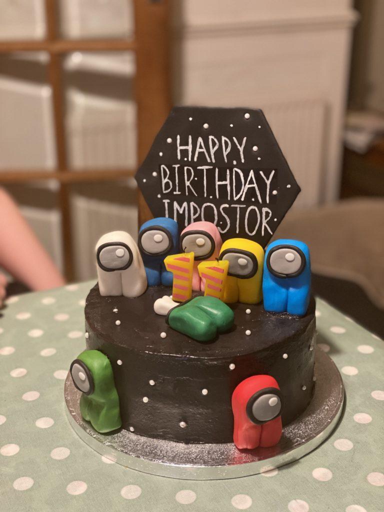 Among Us birthday cake