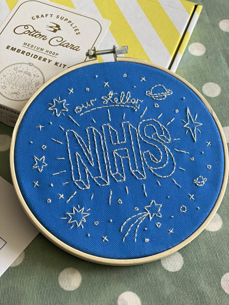 our stellar NHS embroidery hoop