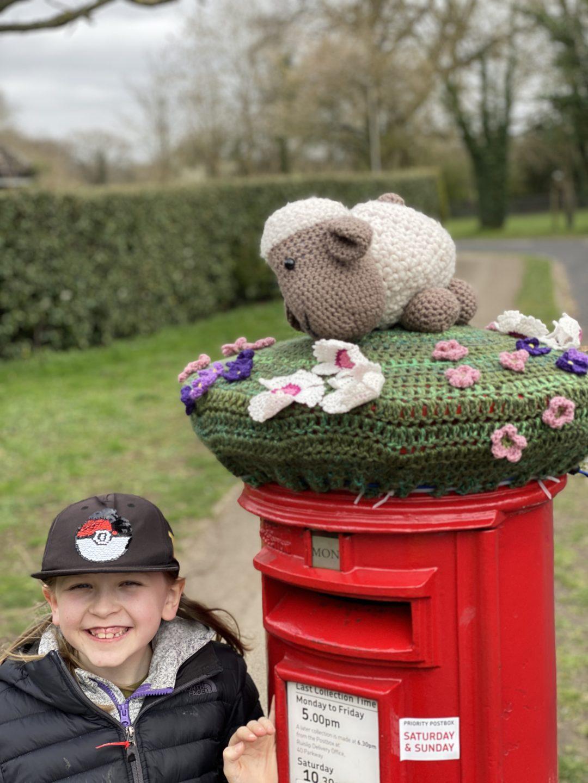 Ruislip Easter post box topper
