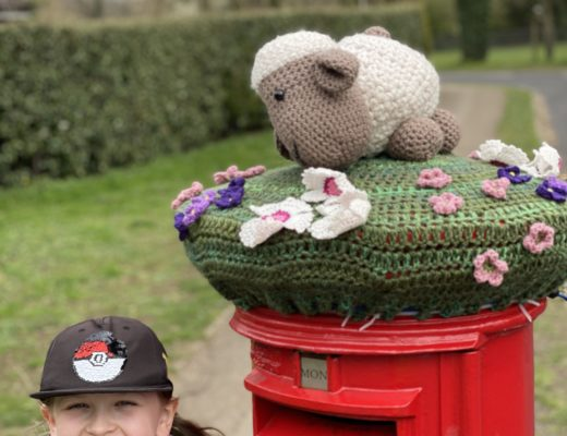 Ruislip Easter post box topper