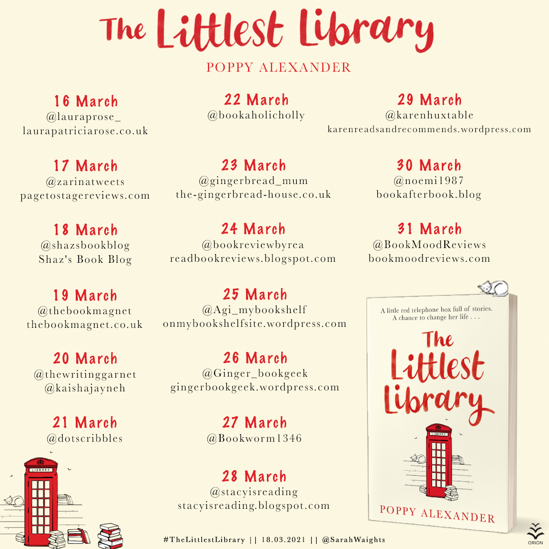 THE LITTLEST LIBRARY blog tour graphic