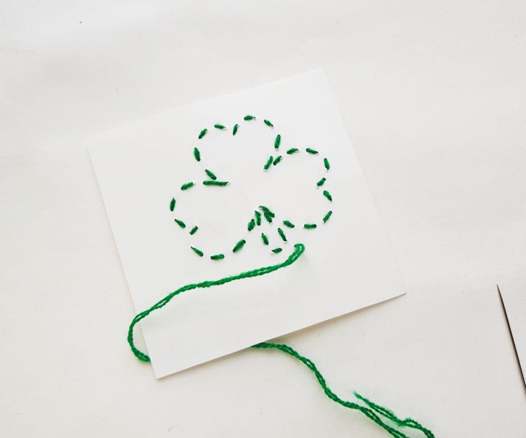 Shamrock stitching craft
