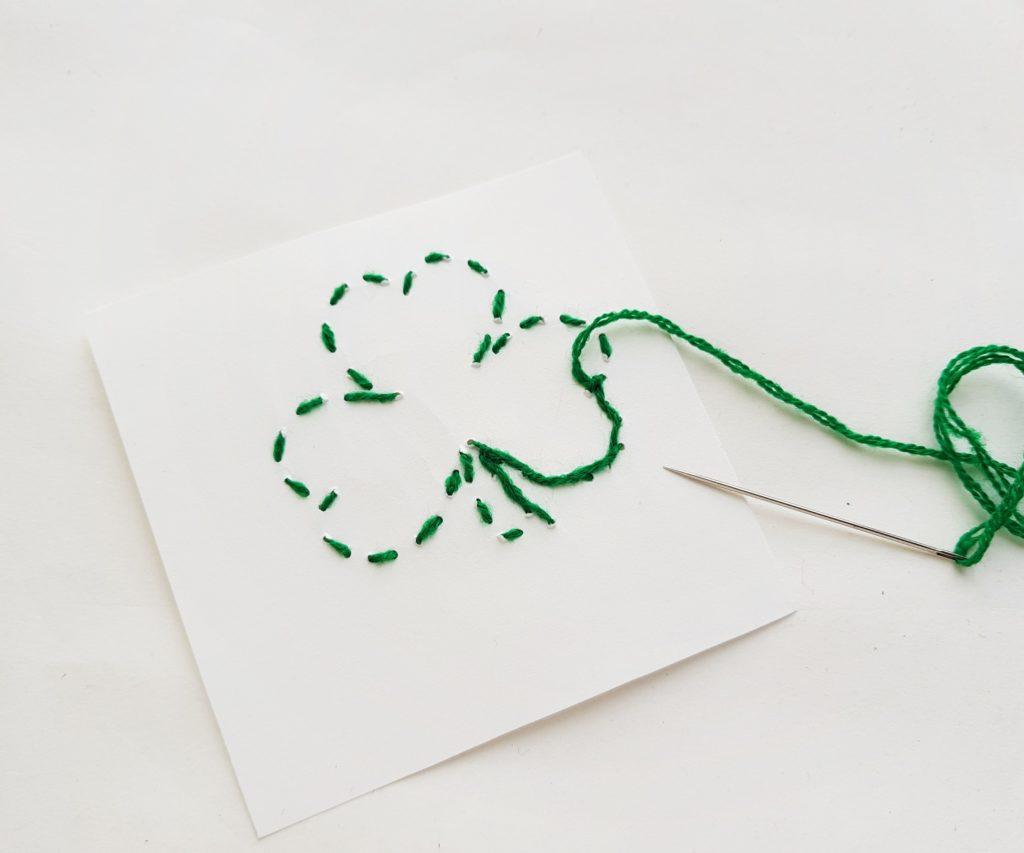 St Patrick's Day stitch craft for kids