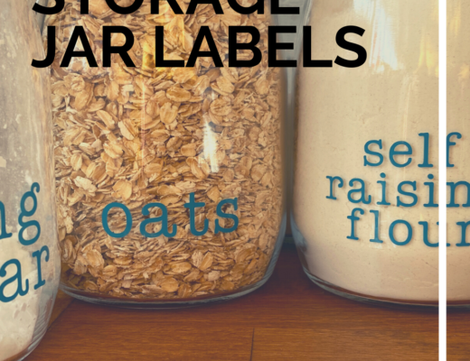 Easy Cricut storage jar labels
