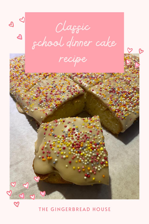 classic school dinner cake