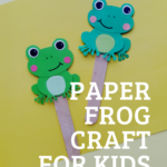 Fun paper frog craft for kids