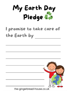 free Earth Day pledge