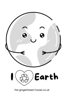 free Earth Day colouring sheet