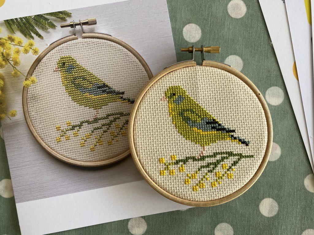 greenfinch cross stitch design
