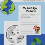 Free Earth Day pledge and colouring sheet