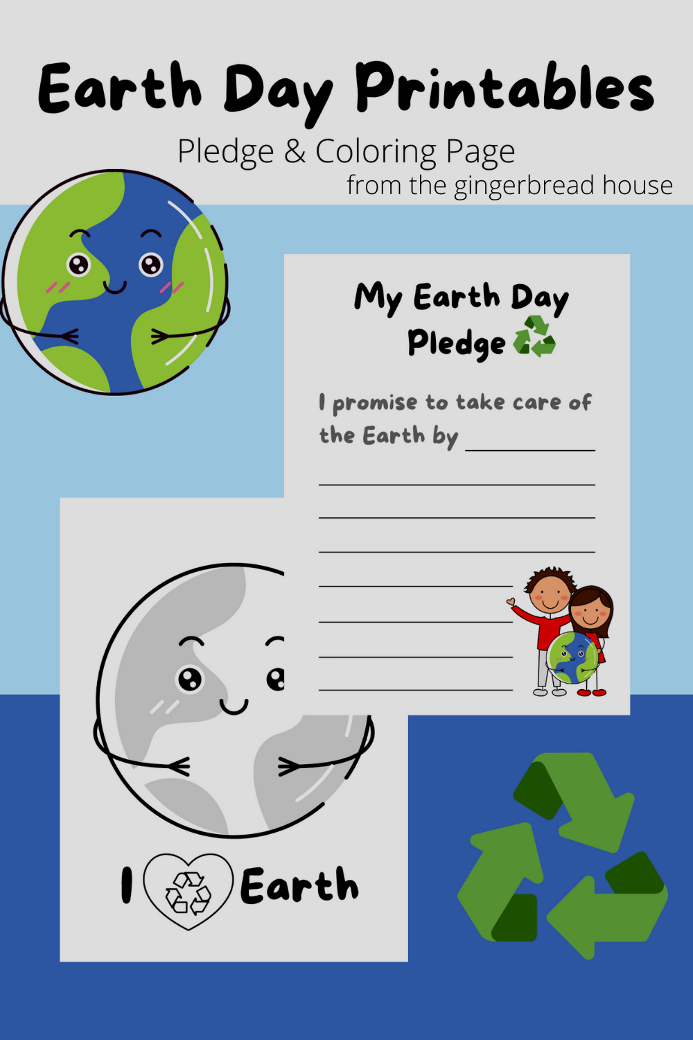 Earth Day pledge and colouring sheet