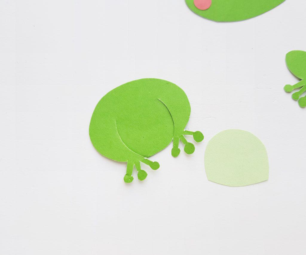 Frog paper craft for kids