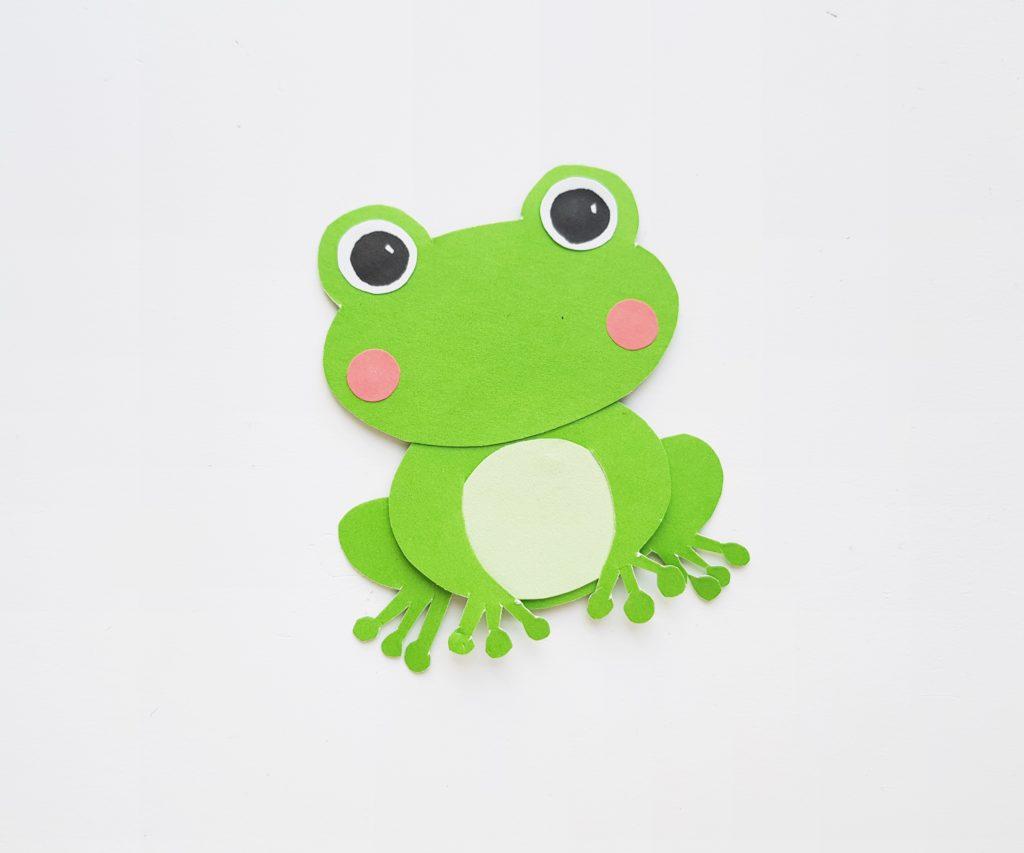 paper frog craft for kids