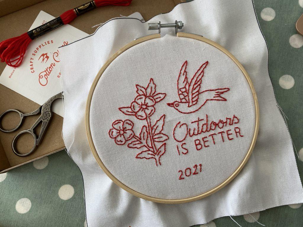 Cotton Clara modern embroidery hoop