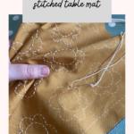 Sashiko table mat