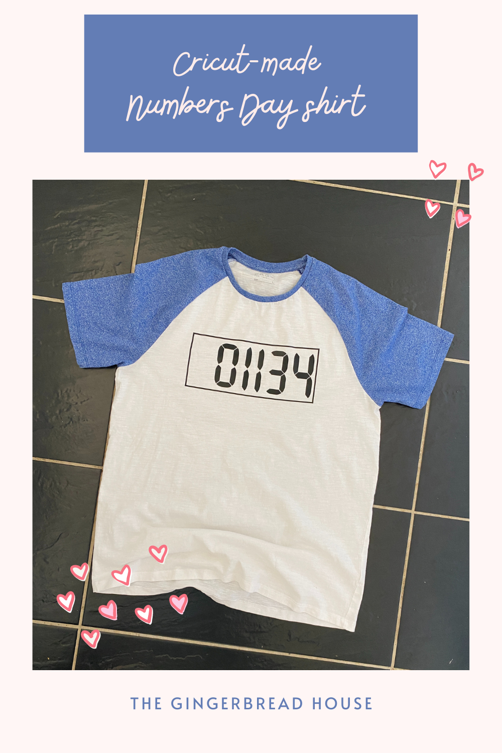 Cricut made Numbers Day shirt