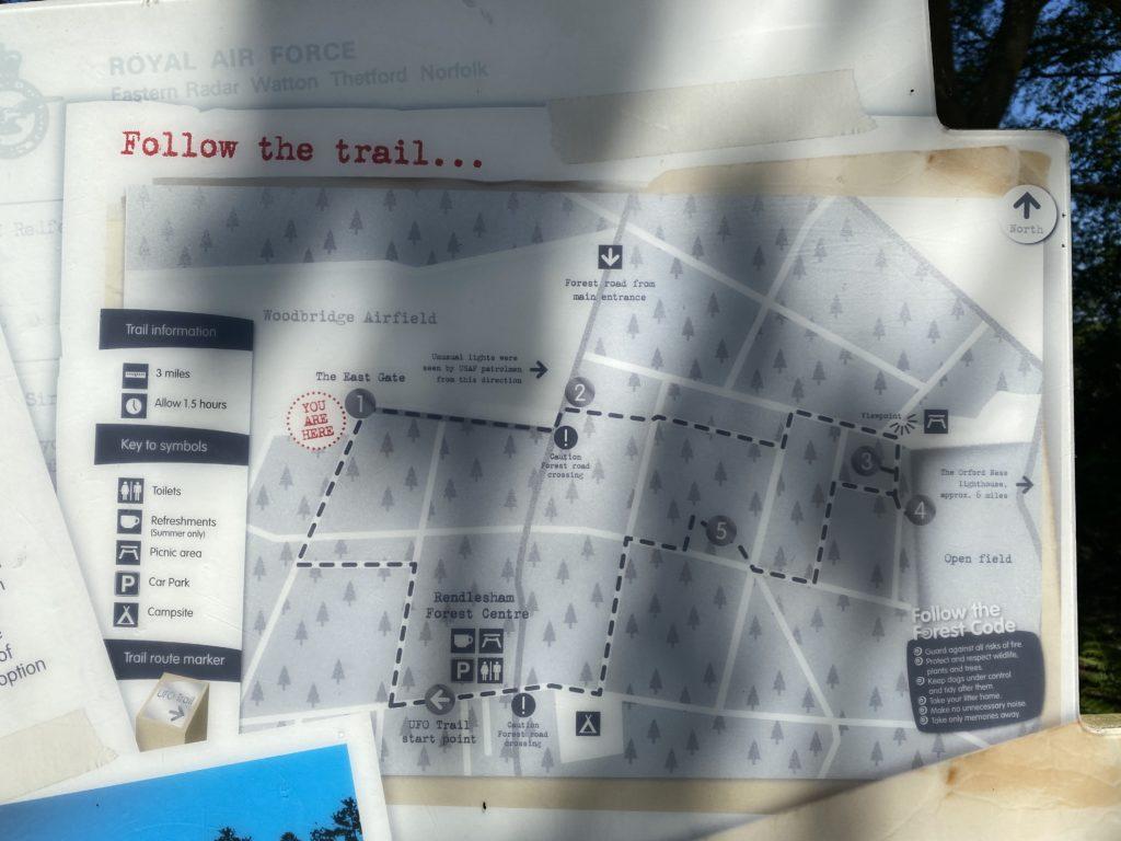 UFO trail signs Rendlesham Forest