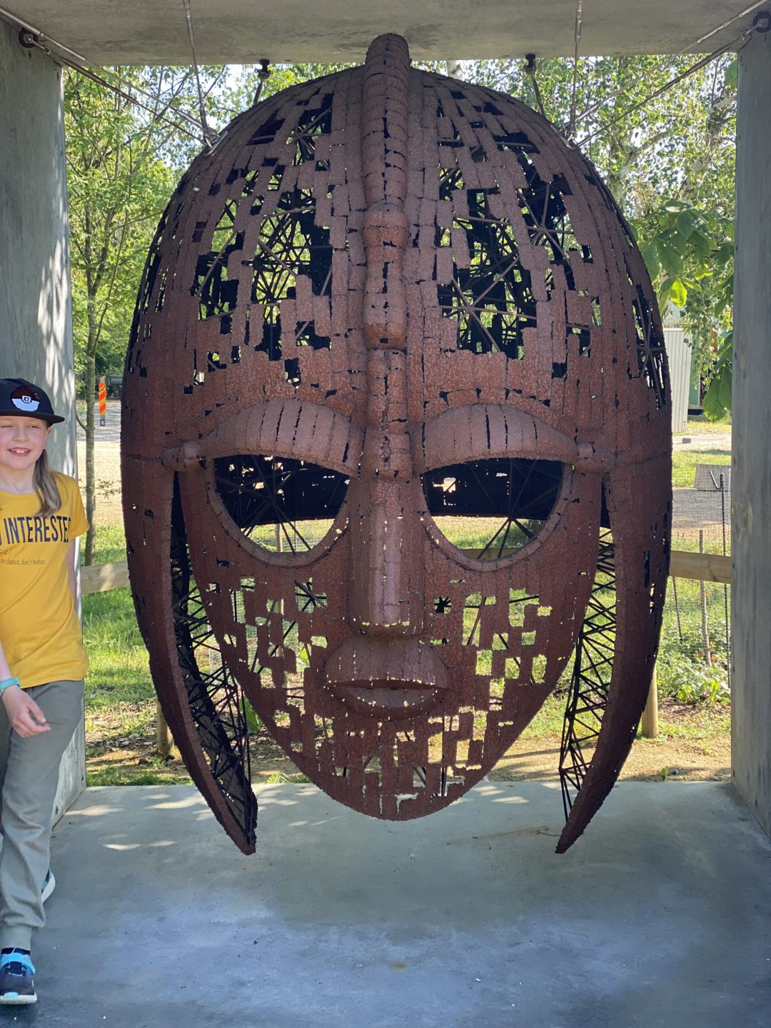 exploring Sutton Hoo with kids