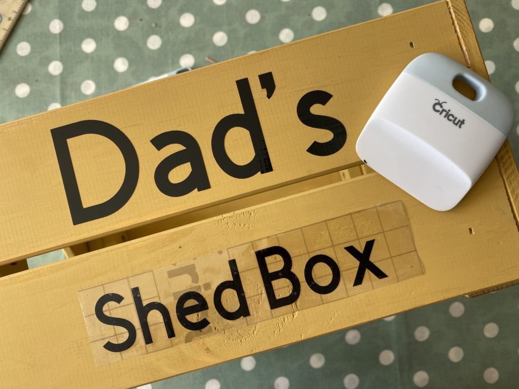 Fathers Day Cricut made crate