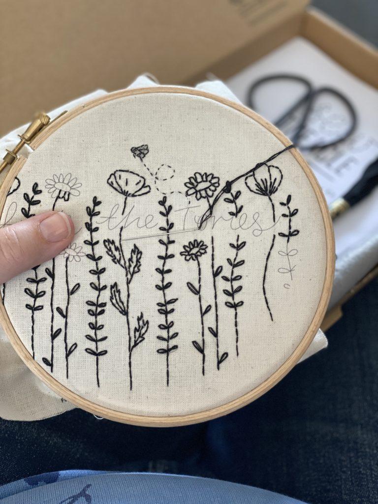 Hello Treacle embroidery kit