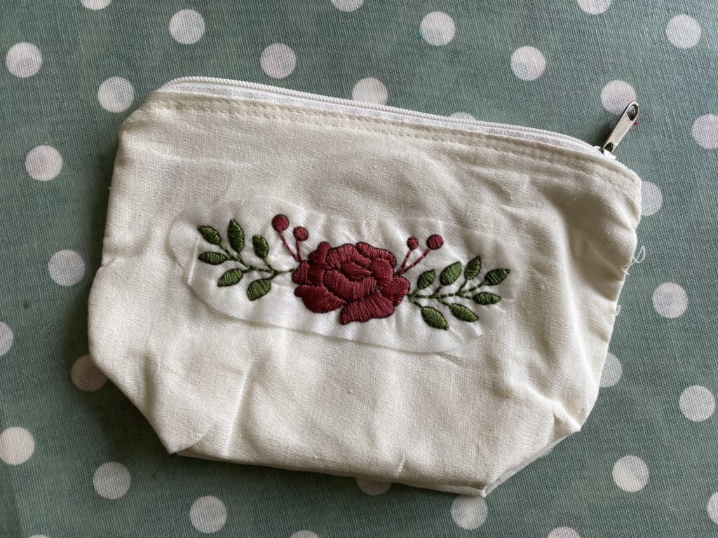 how to use stick on embroidery transfers