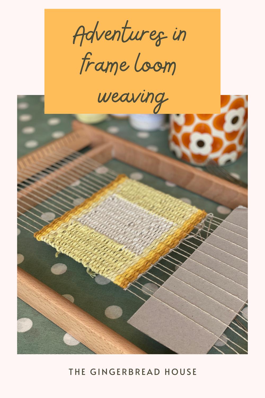 Adventures in frame loom weaving