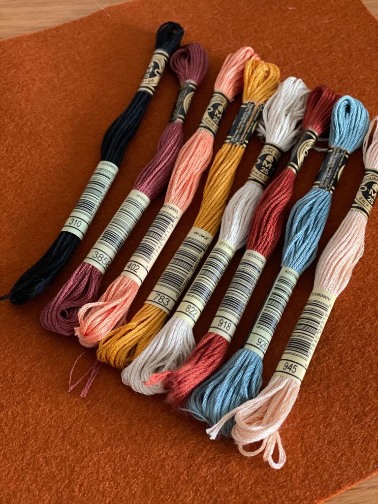 Desert Moth embroidery threads