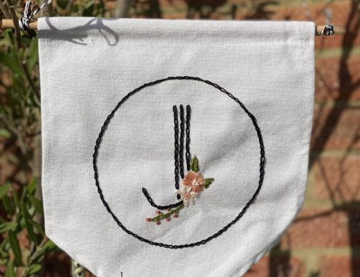 initial J embroidery pattern