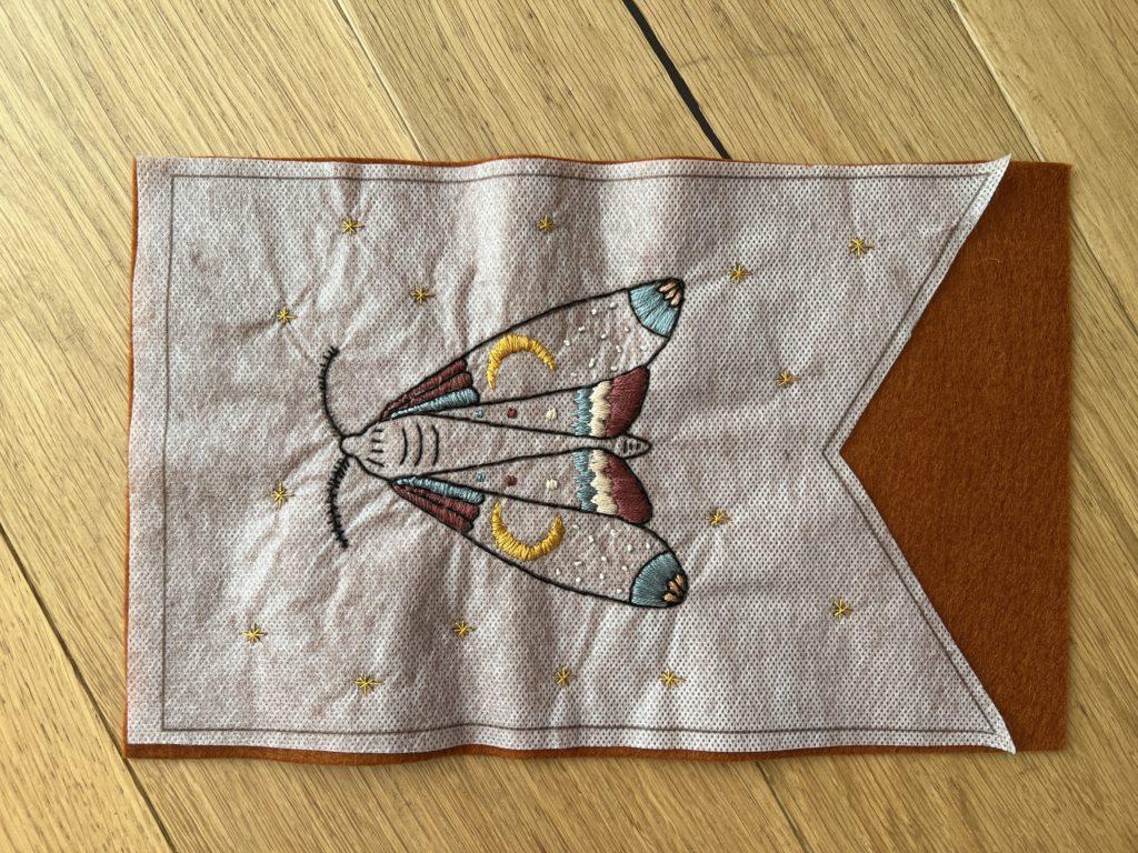 Desert Moth embroidery