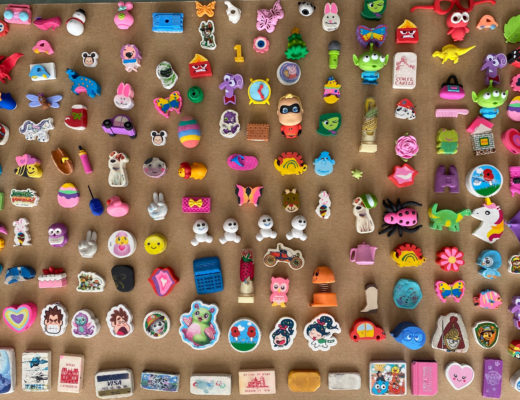 child's rubber collection