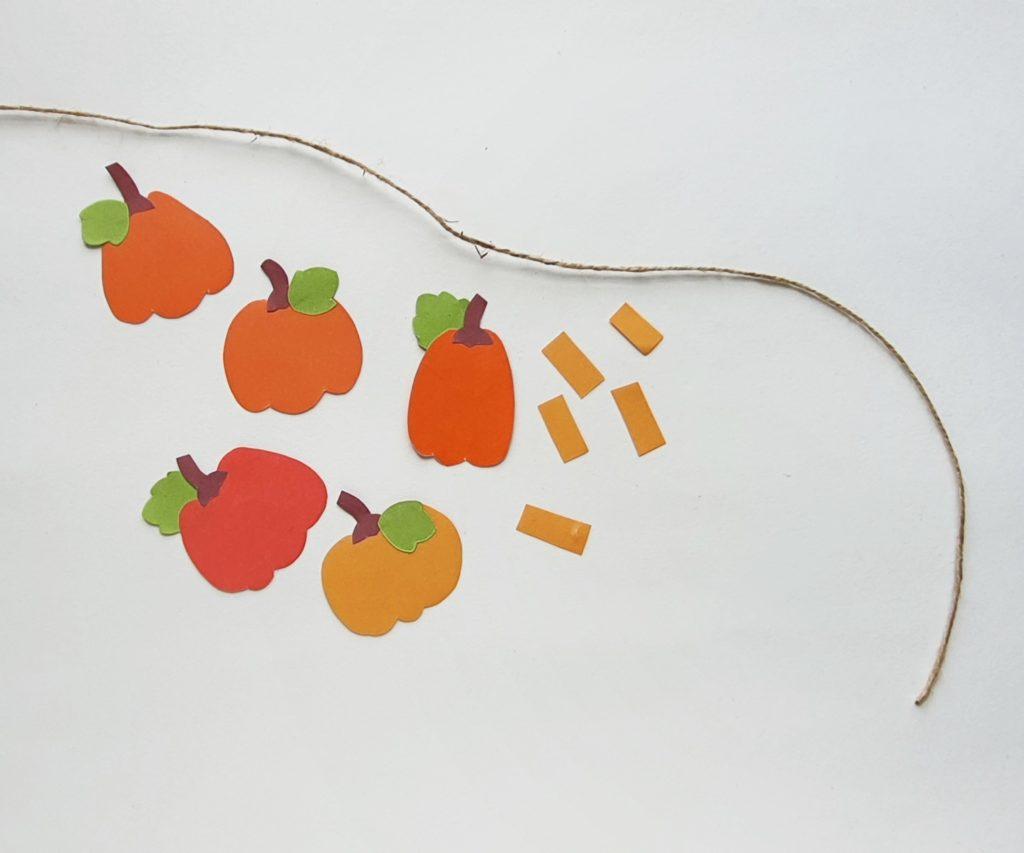 Pumpkin Garland Steps