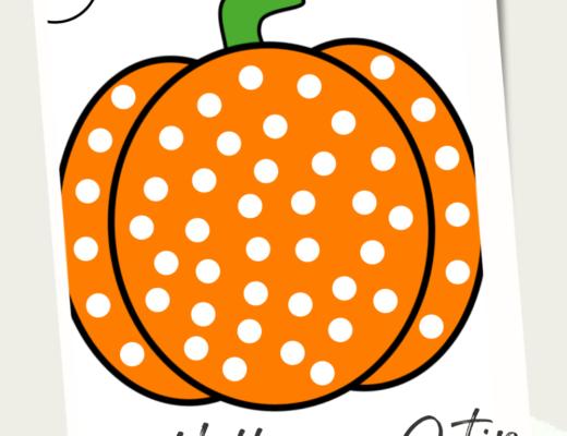 Halloween Q-Tip painting templates
