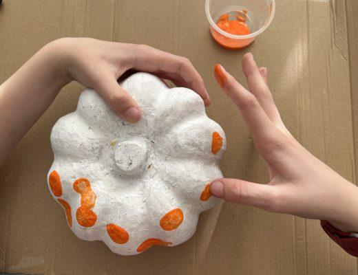 fingerprint pumpkin craft