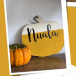 Personalised pumpkin decoration for kids {Cricut made}