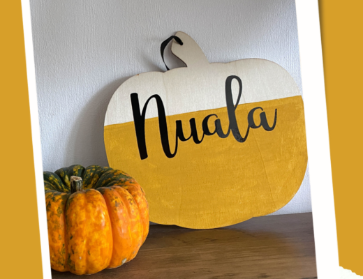 Personalised pumpkin decoration for kids